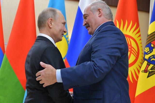 Президент РФ Владимир Путин и президент Республики Беларусь Александр Лукашенко.