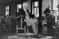 Ильза Кох на суде над бывшим персоналом Бухенвальда.