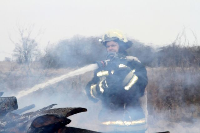 Пять раз за сутки выезжали пожарные на тушение травы в Калининграде.