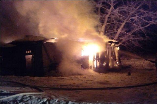 Пожар в Удомельском районе
