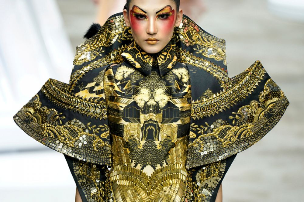 Модель на Неделе моды в Китае, Пекин.