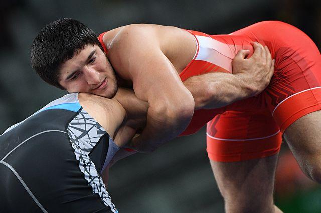 Абдулрашид Садулаев в финале соревнований по вольной борьбе среди мужчин в весовой категории до 86 кг на XXXI летних Олимпийских играх.