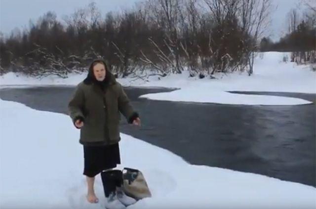 Что за история с бабушкой, переходящей босиком ледяную реку вброд?