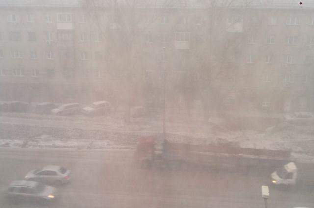Порывы ветра и снежные массы.