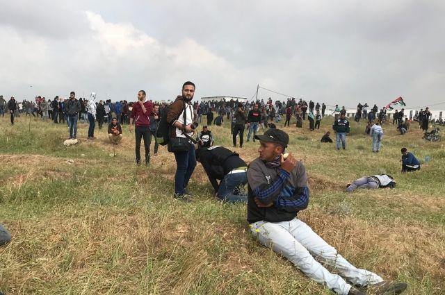 36 палестинцев пострадали встолкновениях всекторе Газа