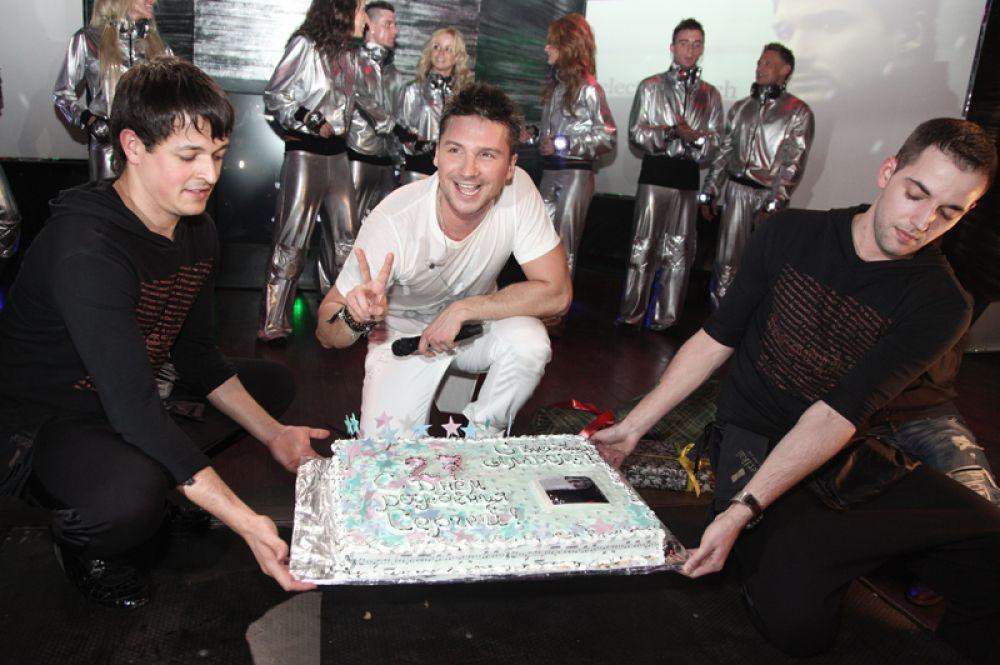Сергей Лазарев на праздновании своего дня рождения в клубе «Истерика». 2010 год.