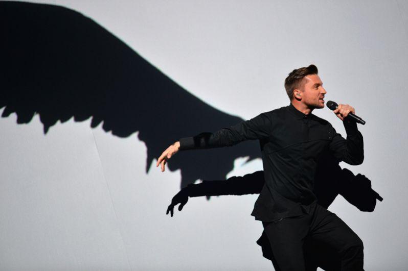 Сергей Лазарев во время генеральной репетиции финала 61-го международного конкурса песни «Евровидение 2016» в Стокгольме.