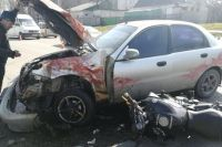 Ужасное ДТП автомобиля и мотоцикла в Запорожье: подробности