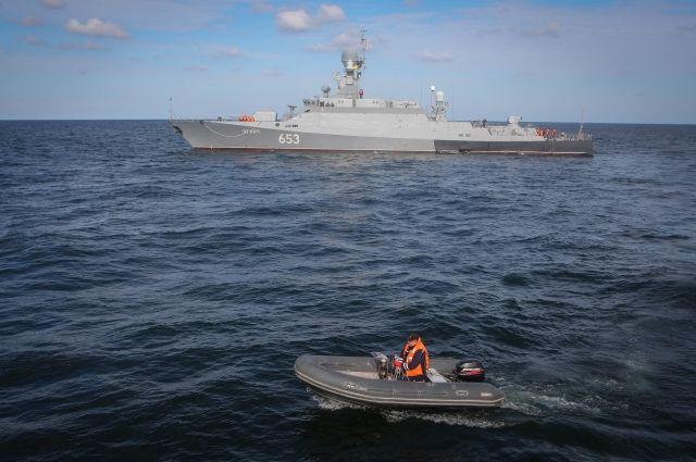 Каспийская флотилия уничтожила условного противника ракетами «Калибр»