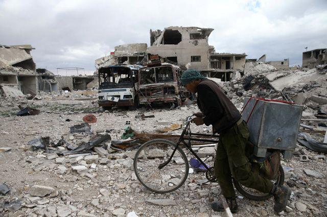Восточная Гута, Сирия.