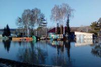 Паводок в алтайском селе Усть-Козлуха