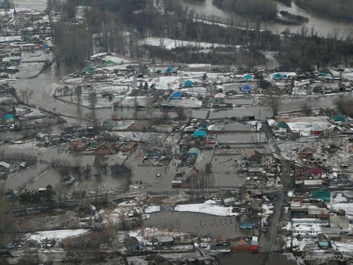Подтопленные районы Алтайского края.