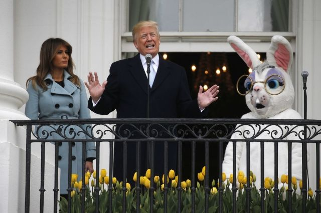 Трамп с супругой приняли участие в праздновании Пасхи у Белого дома