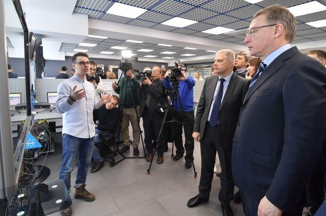 Александр Бурков сегодня посетил технопарк компании «Газпром нефть»