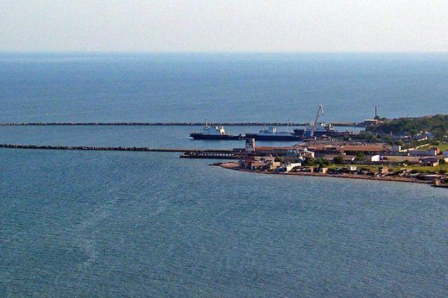 Порт Керчи, откуда вышел сейнер