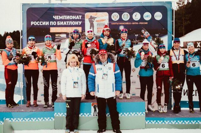 Волков, Поршнев, Томилов иСучилов выиграли эстафету начемпионате Российской Федерации побиатлону