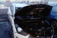 В Оренбурге утром на ул. Салмышской сгорел автомобиль Huyndai.