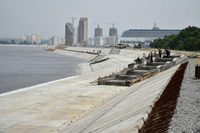 В Хабаровске строят одну из длиннейших на Дальнем Востоке набережных.