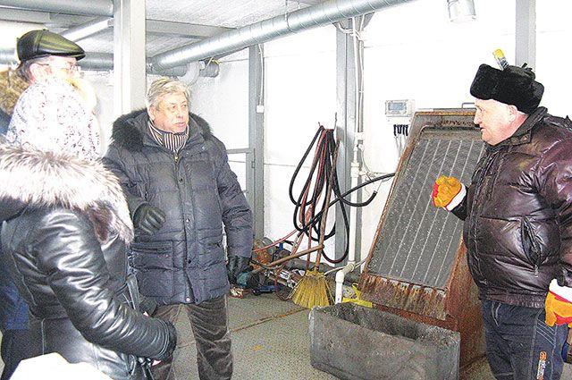 В здании новых очистных сооружений села Первомайский.