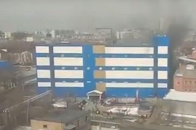 Появилось видео с пожара в московском ТЦ «Персей для детей»