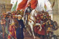 Мехмед Завоеватель входит в Константинополь. Фрагмент картины Фаусто Зонаро.