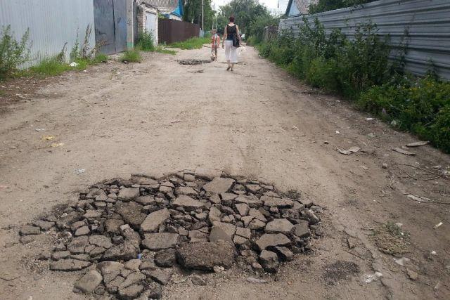 Одна из улиц в поселке Дягилево