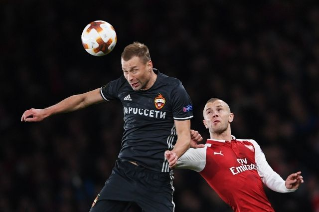 Игровой момент матча «Арсенал» — ЦСКА.