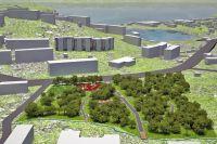 Проект благоустройства территории у озера Медвежье.