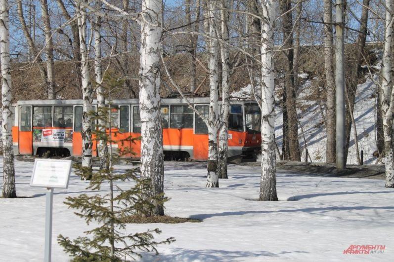 В Саду камней ещё много снега