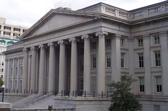 Здание Министерства финансов США.
