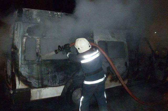 ВПриморском районе сгорел автобус