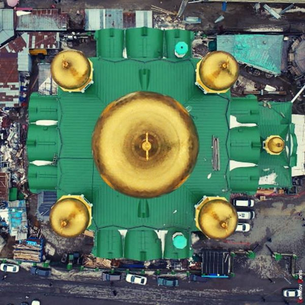 10. Вид на собор сверху.
