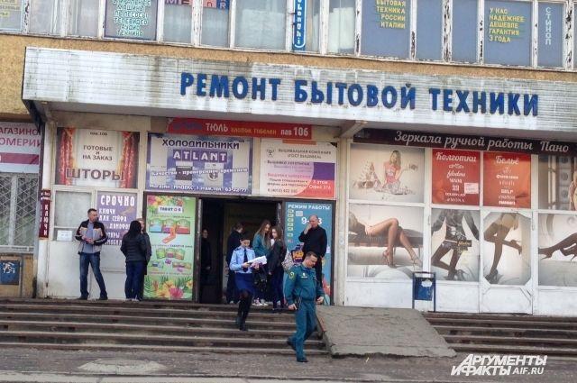 Это единственный из уже проверенных в Калининграде центр, где не сработала сигнализация.