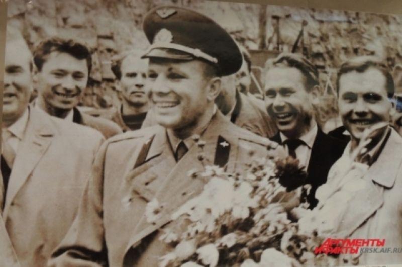 Гагарин прилетел в Красноярский край.