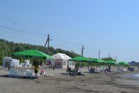 Пляж на острове Помазкин в Барнауле