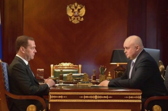 Врио губернатора Кузбасса провел встречу сглавой руководства