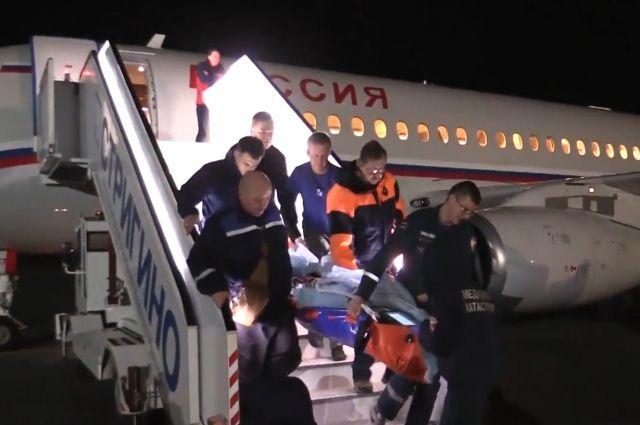 Полёт прошёл нормально: состояние мальчика не ухудшилось.