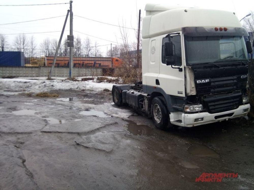 Дорога в районе ОРМЗ.