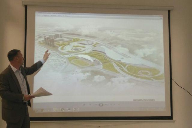 Микрорайон «Западный» будет находиться за гостиницей «Олимпийская» в границах объездной дороги.