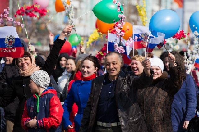 По традиции горожане пройдут по улице Ленина.