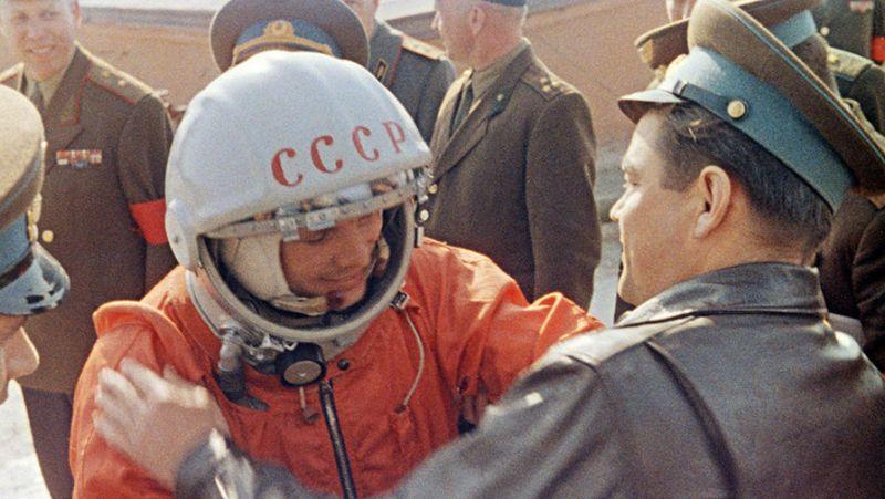 Редкое фото: Юрий Гагарин перед стартом