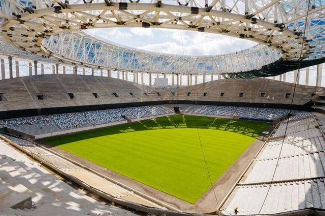Масштабное строительство стадиона в Нижнем Новгороде.