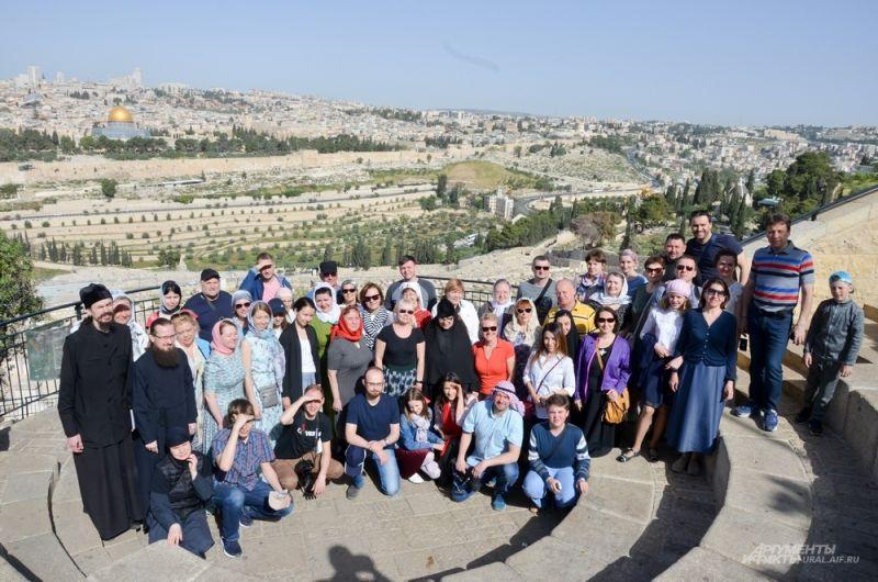 Панорама Иерусалима на горе Элеон.