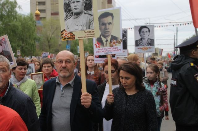 Тюменцам бесплатно напечатают портреты для шествия «Бессмертного полка»