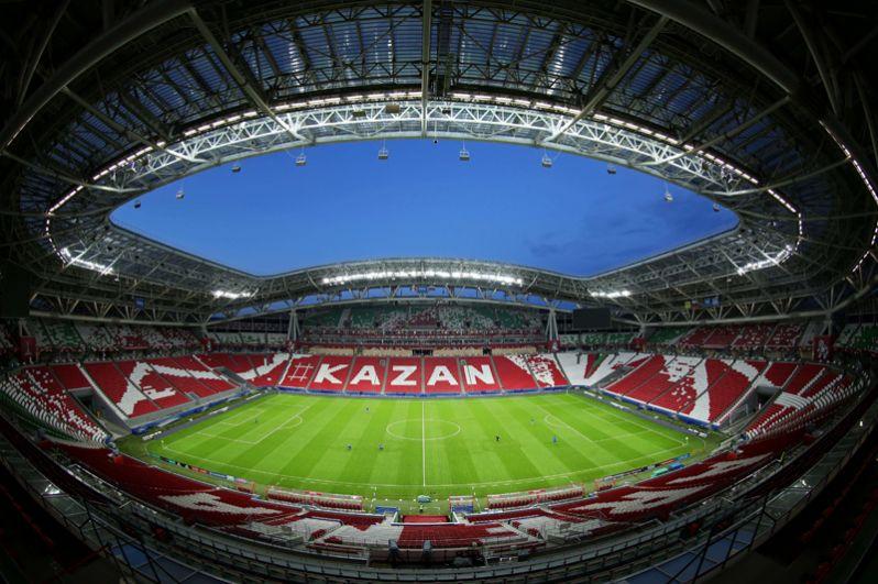 «Казань Арена», Казань. Был открыт 14 июня 2013 года, а 17 августа 2014 года на стадионе состоялся первый матч: «Рубин» сыграл вничью 1:1 с «Локомотивом».