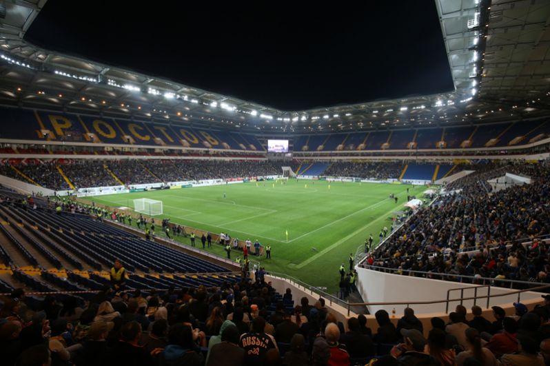 «Ростов Арена». Открытие арены состоялось также 15 апреля 2018 года матчем «Ростов» — «СКА-Хабаровск».