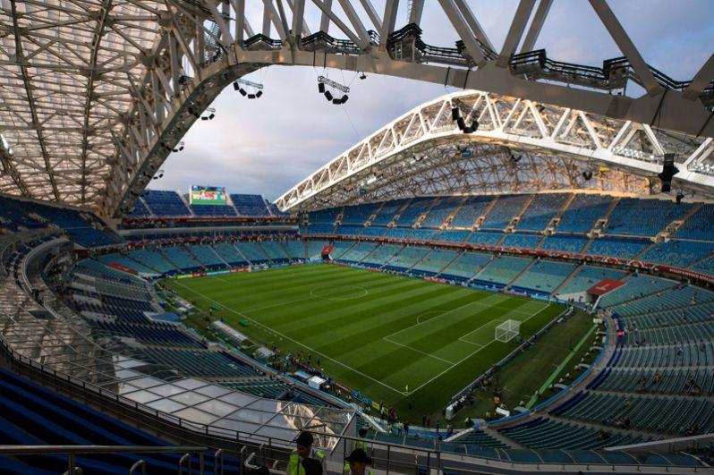 «Фишт», Сочи. Построенный к XXII зимним Олимпийским играм, стадион был на реконструкции до марта 2017 года. Матч открытия, в котором сборная России сыграла вничью со сборной Бельгии, состоялся 28 марта.