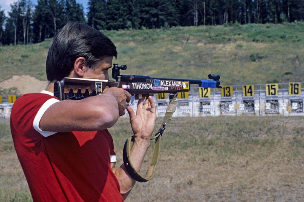 Александр Тихонов, биатлон. Четырехкратный олимпийский чемпион (1968-1980), 11-кратный чемпион мира (1969-1977), 15-кратный чемпион СССР.