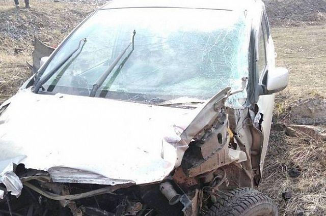 Сбитый автомобиль.