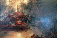 Фейерверки в честь Екатерины II во время её путешествия в Крым. Картина неизвестного художника.